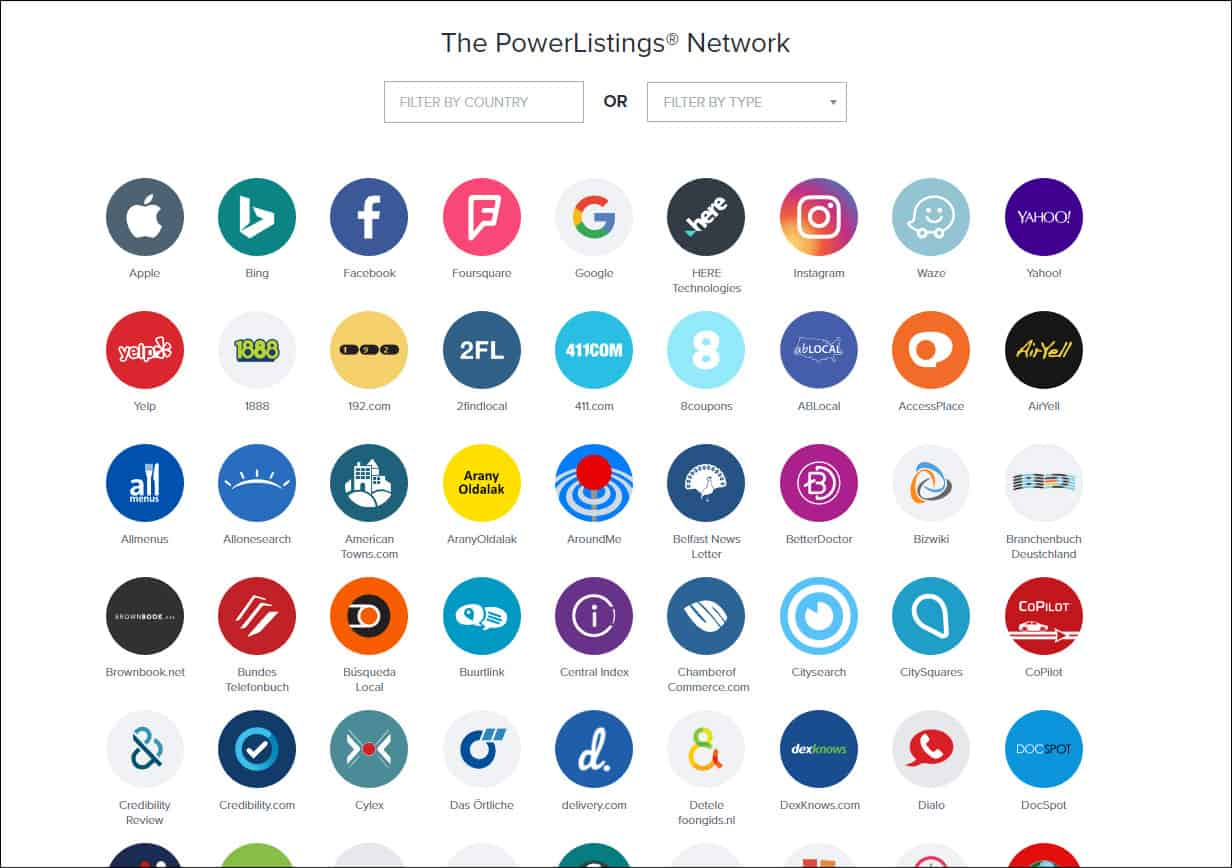 Yext Power Listing Network
