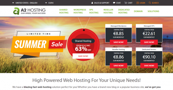 A2Hosting - 20X Mas mabilis na Cloud Hosting