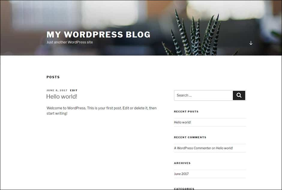 Nová instalace blogu WordPress