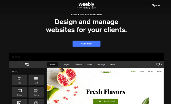 Weebly White Label