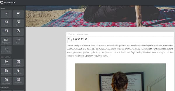 Weebly Blog Post Editor
